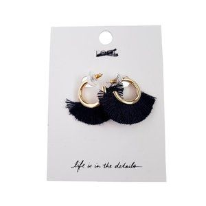 🆕️ Loft Gold Hoop Fringe Earrings